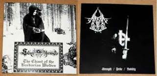 A.Blood / Satanic Warmaster - Strength, Pride, Nobility / The Chant of the Barbarian Wolves