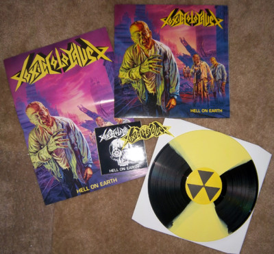 Toxic Holocaust - Hell on Earth (Die hard,Yellow/black vinyl,Lim.200)