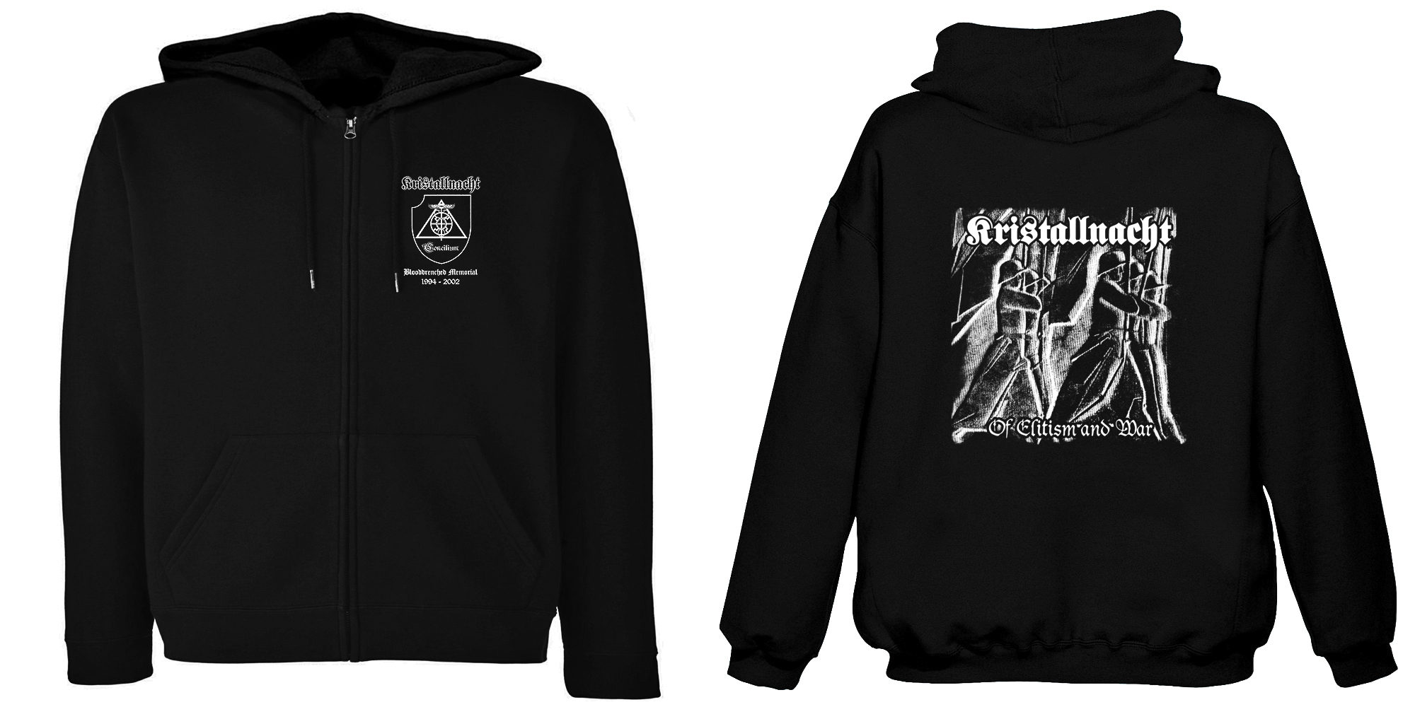 Kristallnacht-Of Elitism And War (Hooded Zipper)