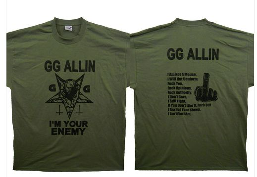 GG Allin - I'm Your Enemy  (olive)