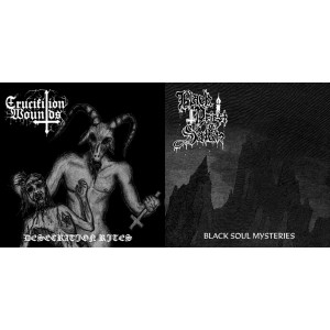 BLACK PRIEST OF SATAN / CRUCIFIXION WOUNDS - Split