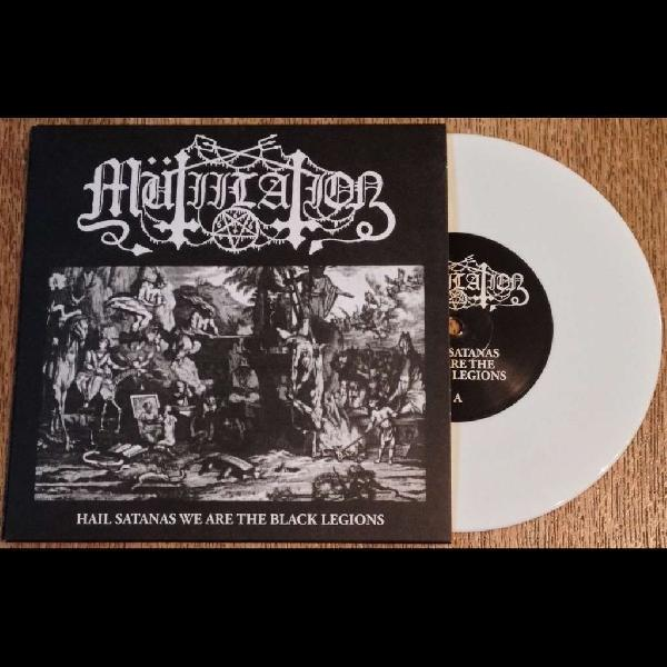 MUTIILATION - Hail Satanas We Are The Black Legions (White Vinyl)