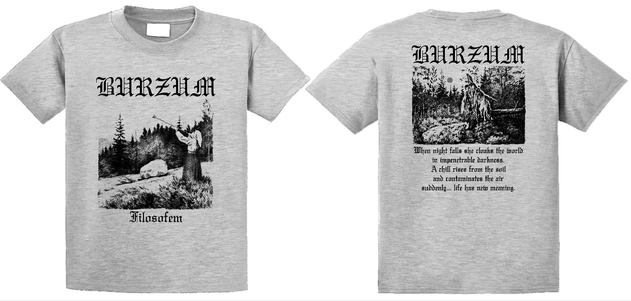 Burzum - Filosofem   (light grey)