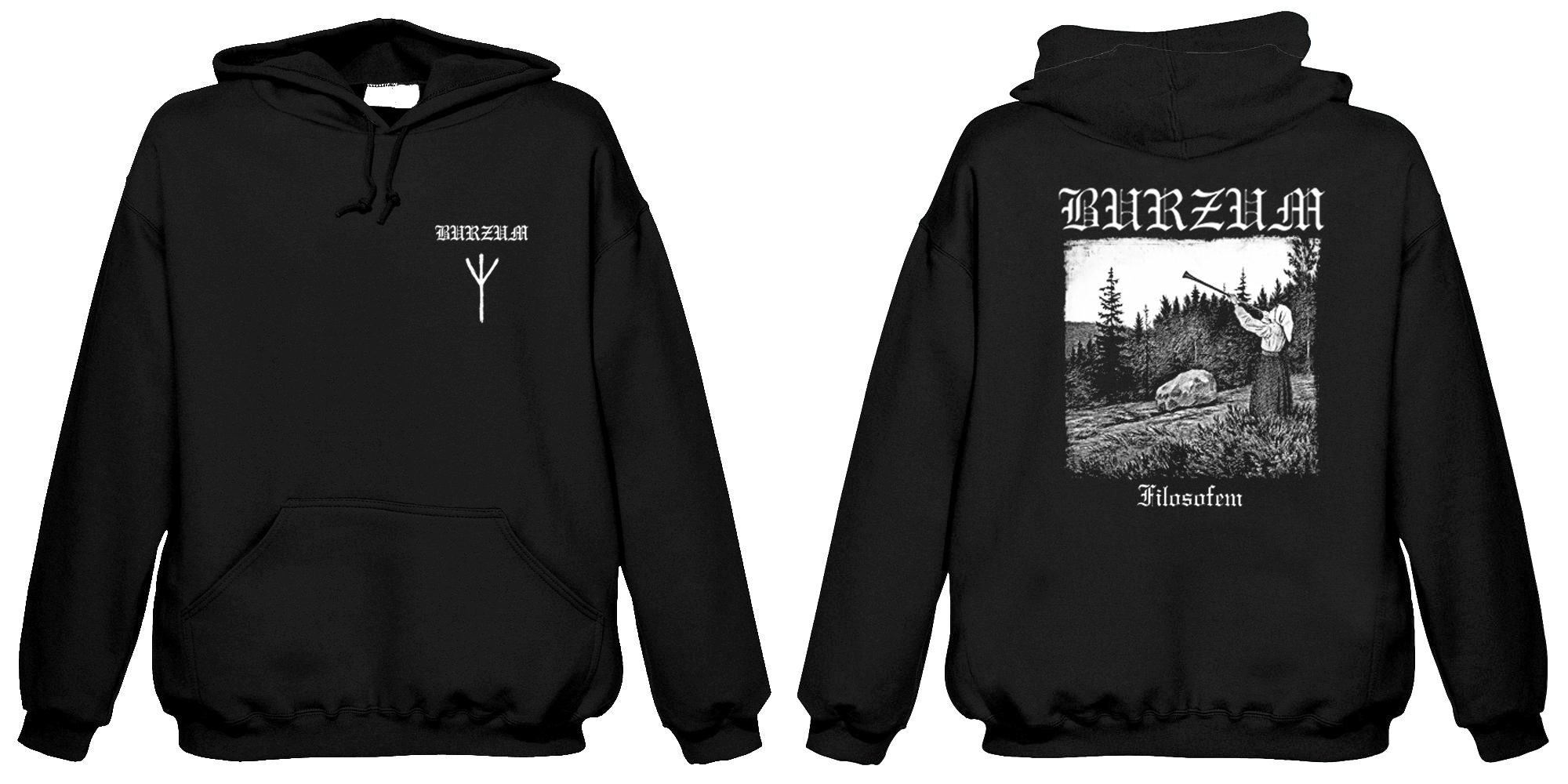 Burzum - Filosofem  (Hooded Sweatshirt)