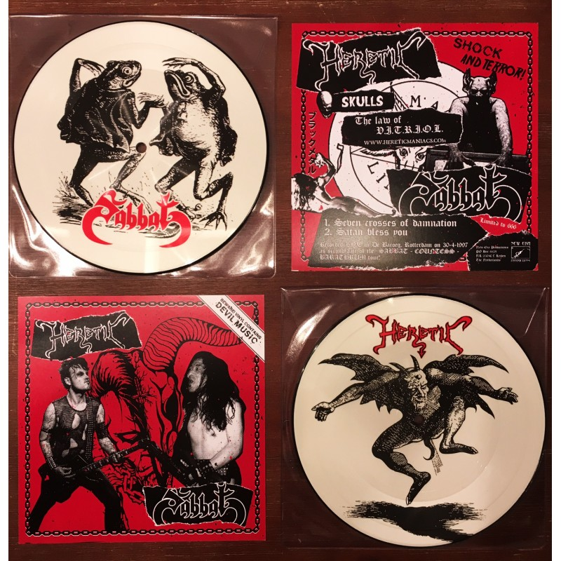 Sabbat / Heretic - Split   (Picture EP)