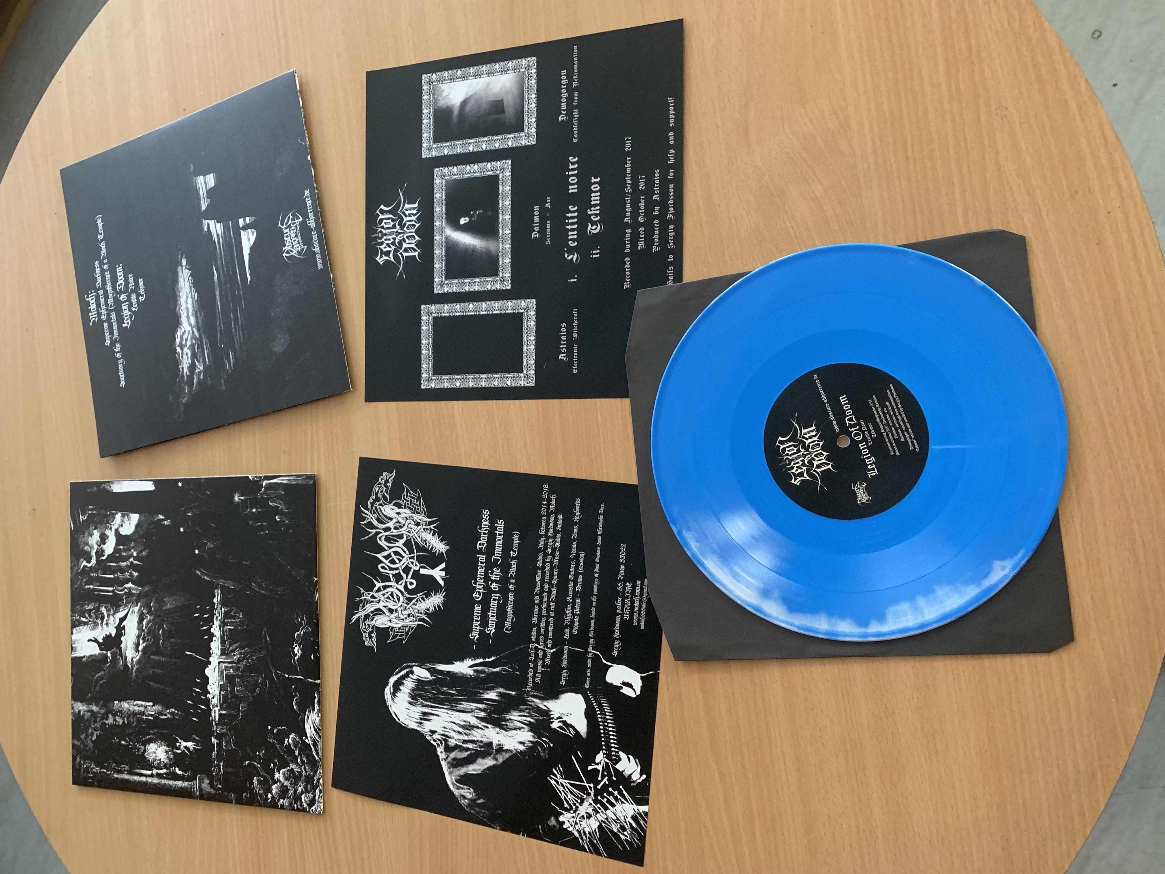 Legion Of Doom / Moloch - Split  (Blue marble vinyl,Lim.100)