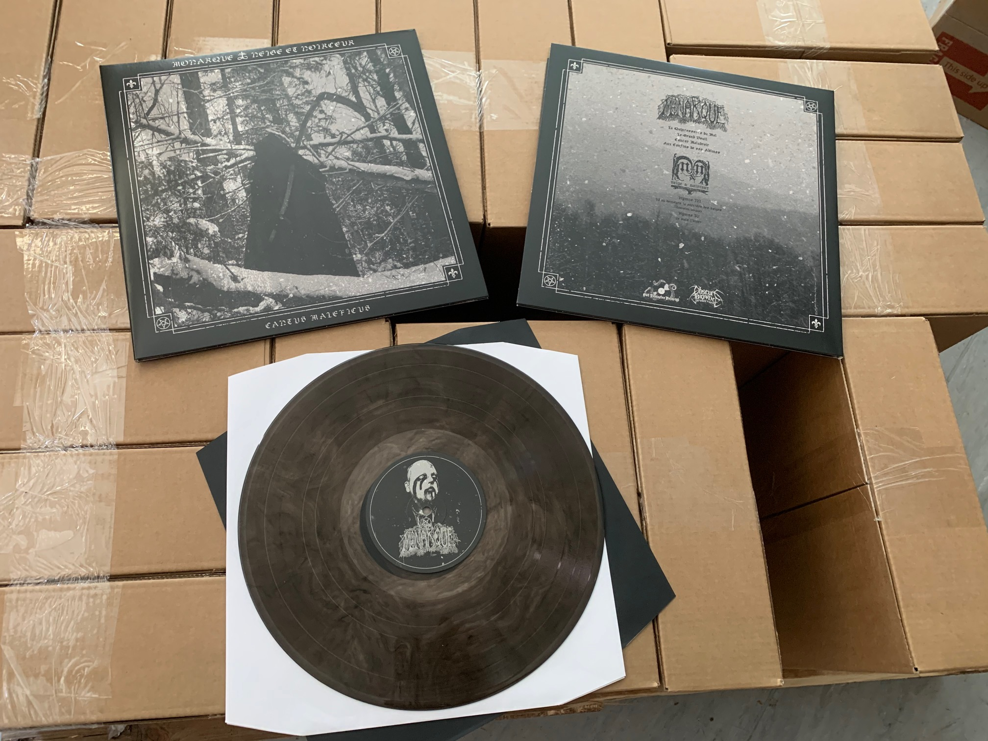 Monarque / Neige & Noirceur - Cantus Maleficus (Black smokey vinyl)