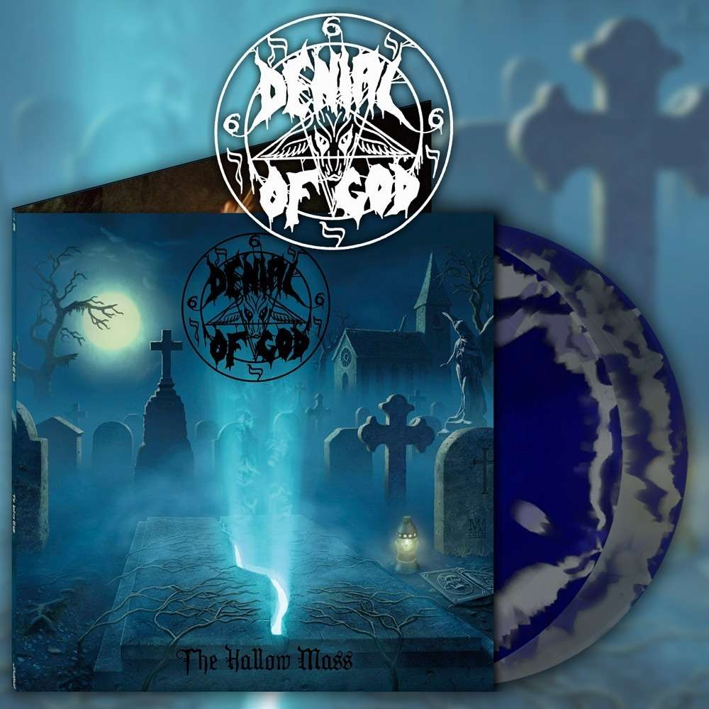 DENIAL OF GOD - The Hallow Mass (Double LP,Blue Swirl Vinyl)