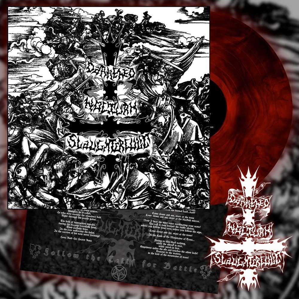 DARKENED NOCTURN SLAUGHTERCULT - Follow The Call For Battle (Red Galaxy Vinyl)