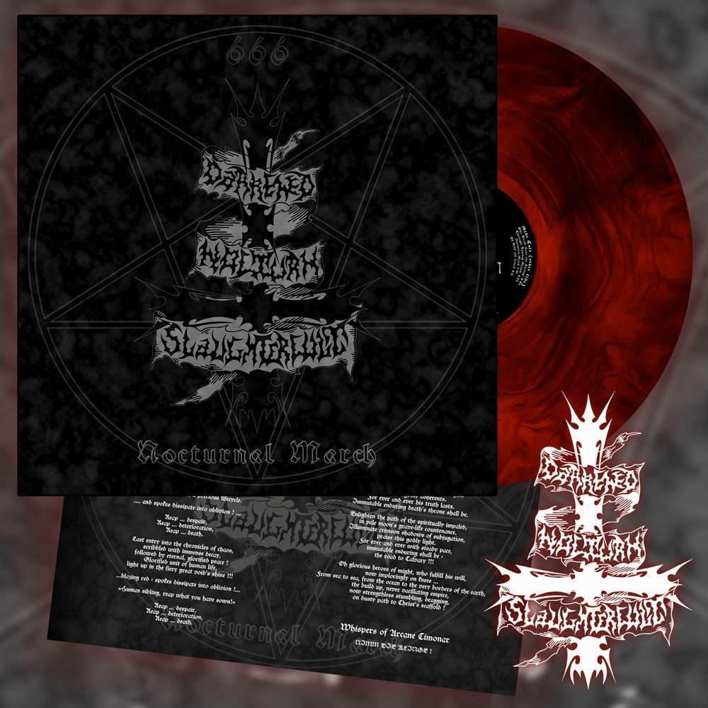 DARKENED NOCTURN SLAUGHTERCULT - Nocturnal March (Red Galaxy Vinyl)