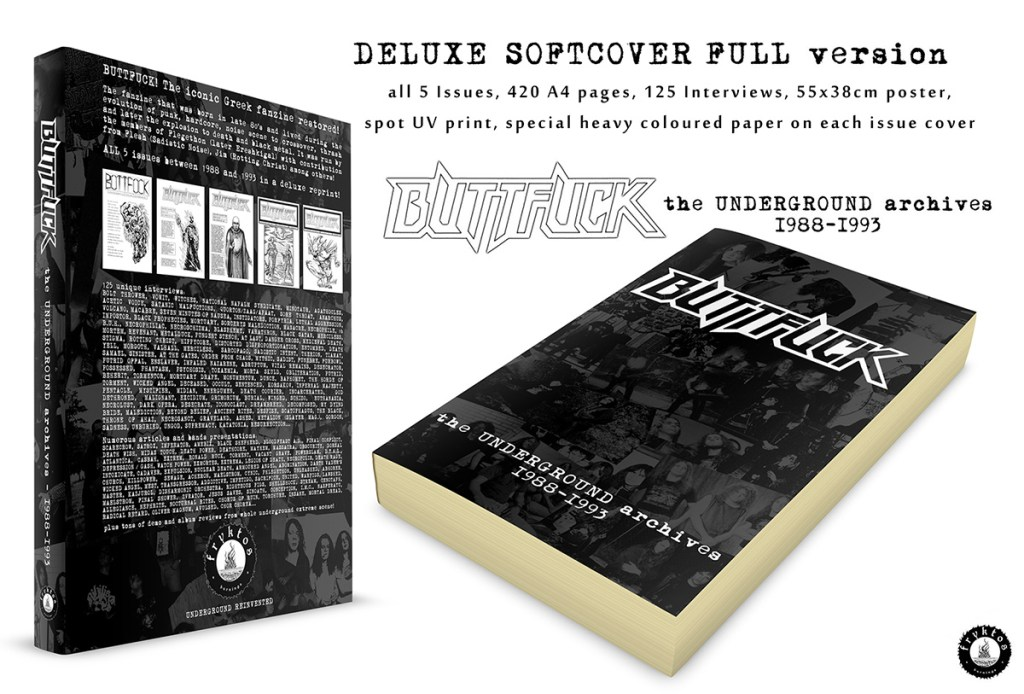 "BUTTFUCK ""The UNDERGROUND archives – 1988-1993"" (Book,420 pages)"
