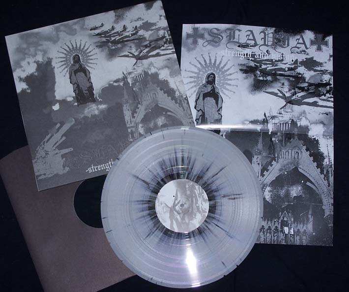 Slavia-Strength And Vision  (grey/black splatter vinyl)